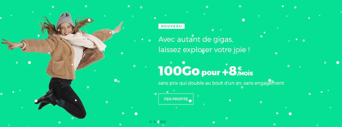 Le forfait 100 Go proposé en ce moment par RED by SFR