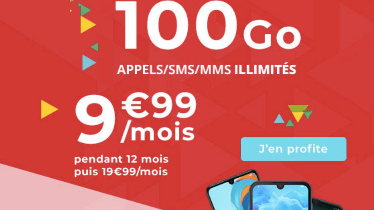Le MVNO propose un forfait 100 Go au prix très attractif