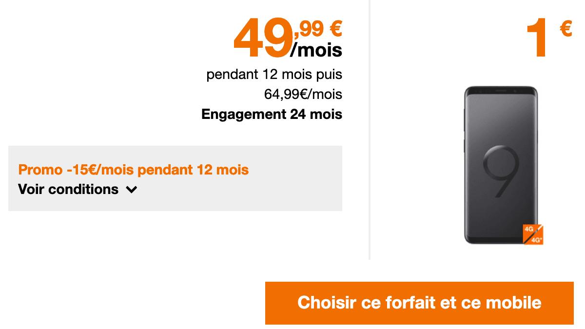 Forfait 100 Go en promo chez Orange.