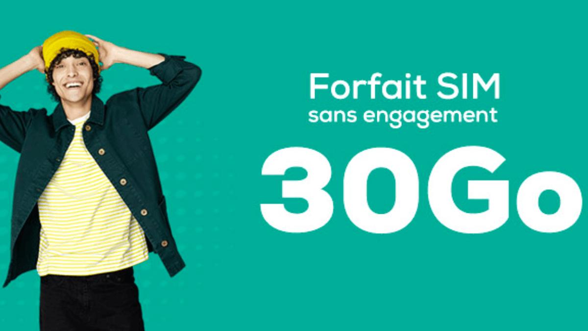 Le forfait 30 Go, sans engagement, de La Poste Mobile à 9,99€/mois