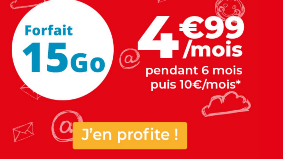 Le forfait 15 Go à 5€ d'Auchan Telecom