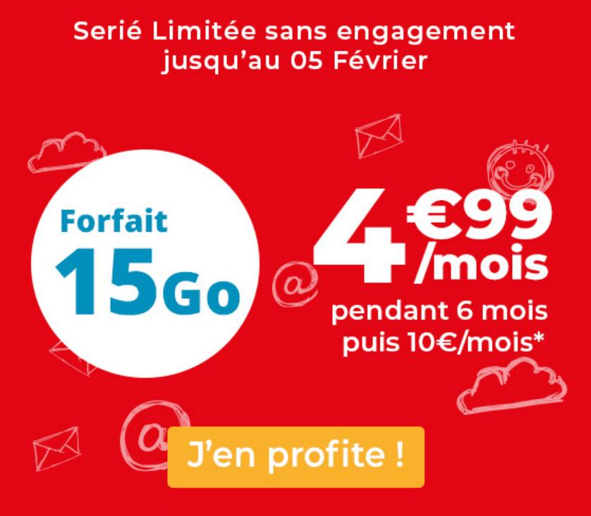 Le forfait à 5€ d'Auchan Telecom