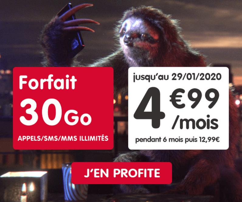 Le forfait à 5€ de NRJ Mobile
