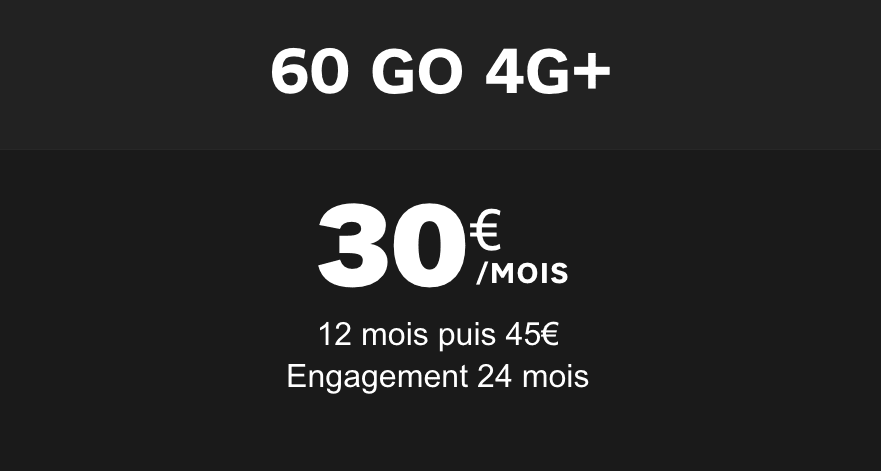 Le forfait 60 Go qui accompagne le smartphone pas cher chez SFR