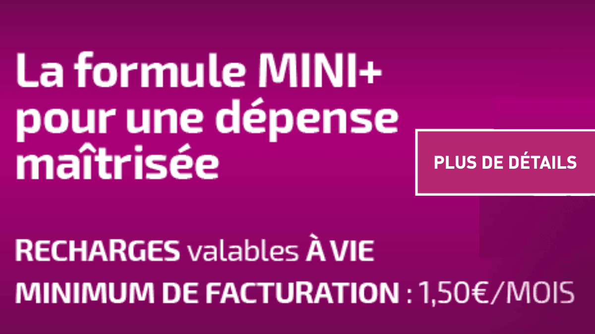 Réglo Mobile et sa formule MINI+ à 1,50€/mois