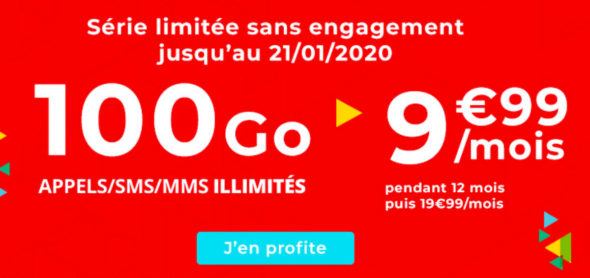 Le forfait en promotion de Auchan Telecom pour 100 Go de data