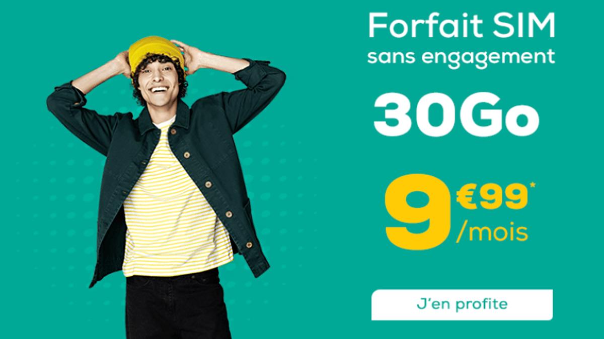 La Poste Mobile et son forfait à 9,99€ par mois donne accès aux appels/SMS illimités et à 30 Go de données internet.