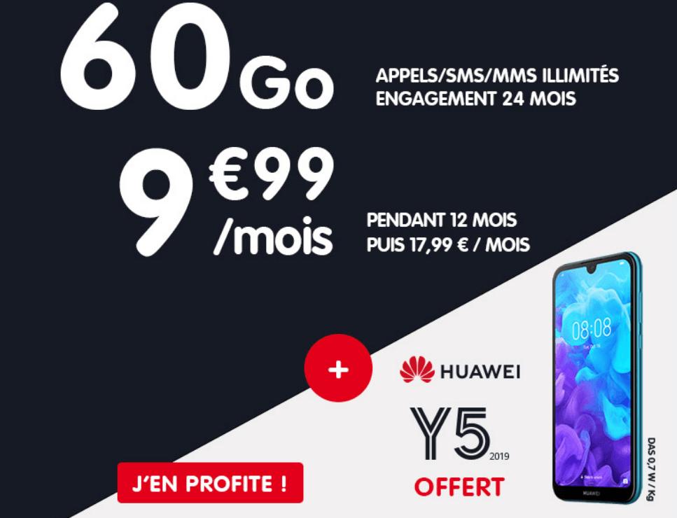 L'offre promotionelle de NRJ Mobile sur son forfait 4G + smartphone