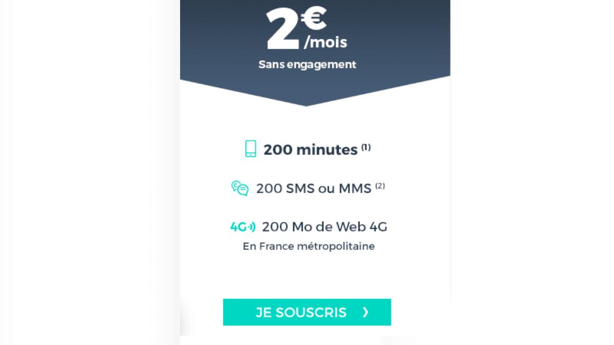 Cdiscount Mobile et son forfait à 2€/mois