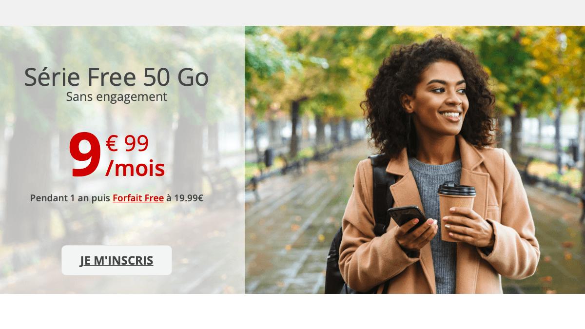 Pour moins de 10€ chez Free, il est possible d'obtenir un forfait 50 Go sans engagement.