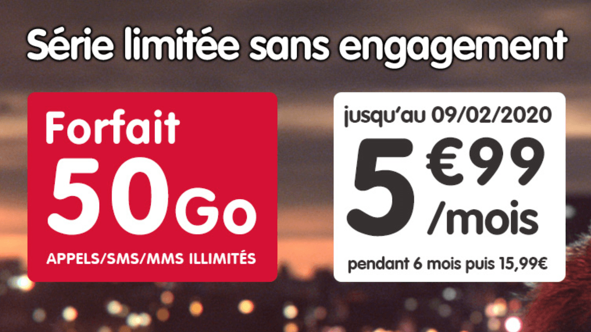 L'offre promotionelle de NRJ Mobile disponible en ce moment