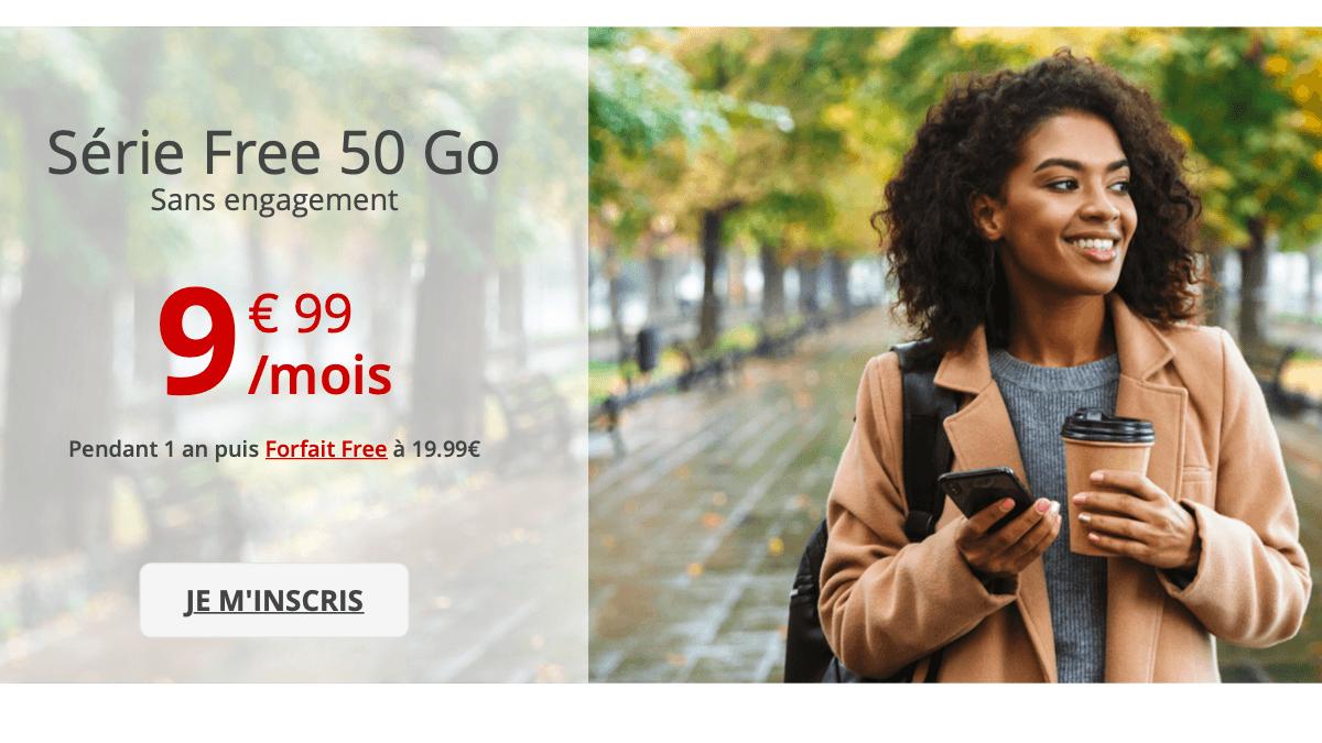 50 Go à 9,99€ seulement pendant un an, c'est l'offre spéciale de Free.