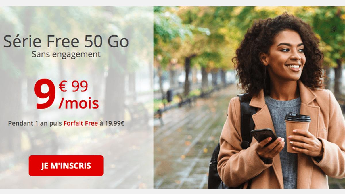 Ce forfait 4G Free mobile passe actuellement à 9,99/mois.