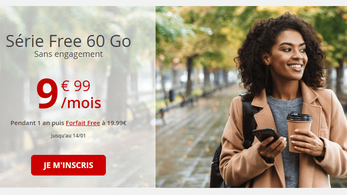 Free mobile propose également Youboox One gratuitement avec son forfait 60 Go à 9,99€/mois.