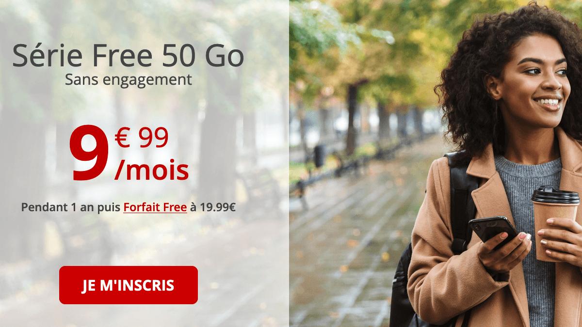 Série Free 50 Go promo forfait mobile.