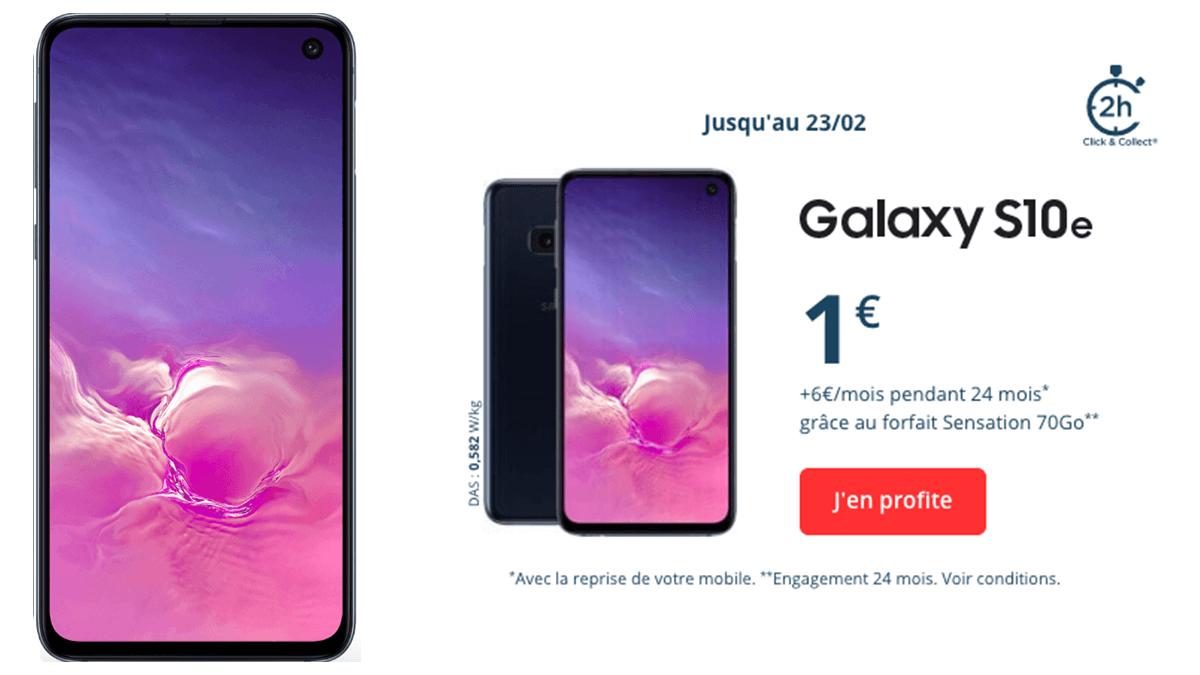 Smartphone haut de gamme : Samsung Galaxy S10e