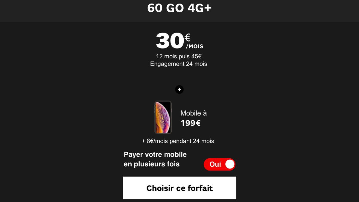 Deux modèles d'iPhone sont en promotion chez SFR avec un forfait mobile.