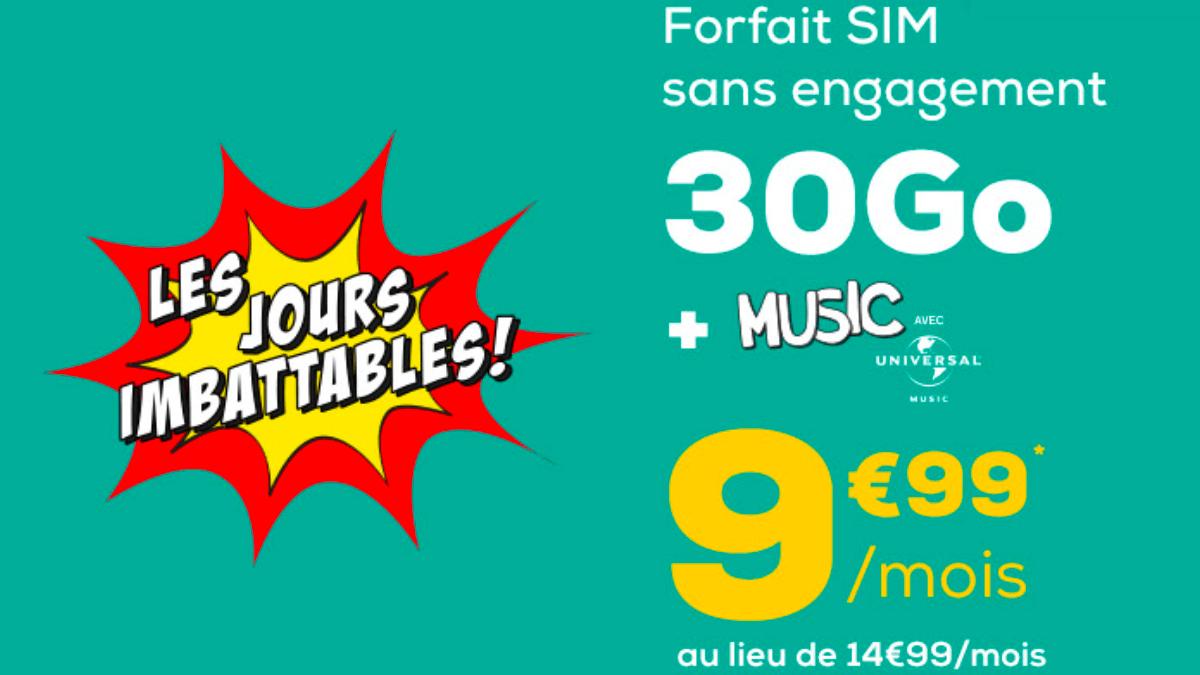 Le forfait à 10€ de La Poste Mobile