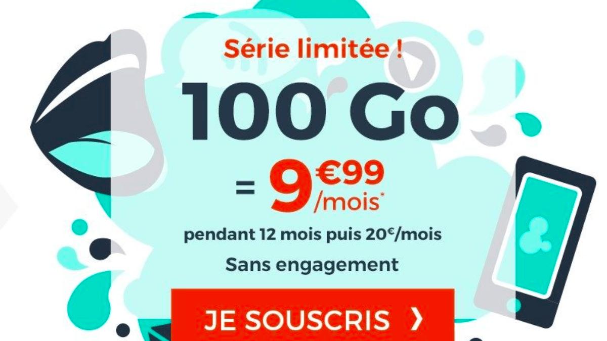 L'offre de Cdiscount Mobile pour un total de 100 Go de data