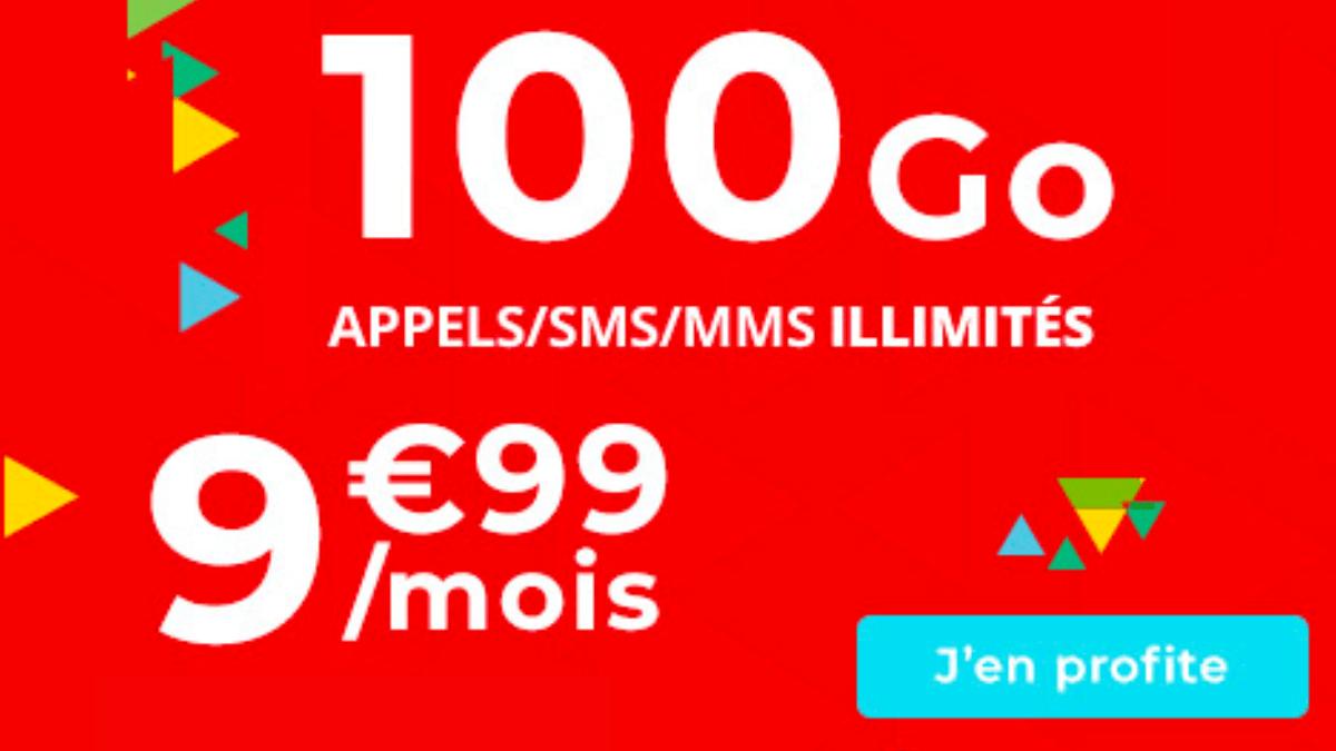 100 Go de data à moins 10€/mois disponible dans le catalogue d'Auchan Telecom