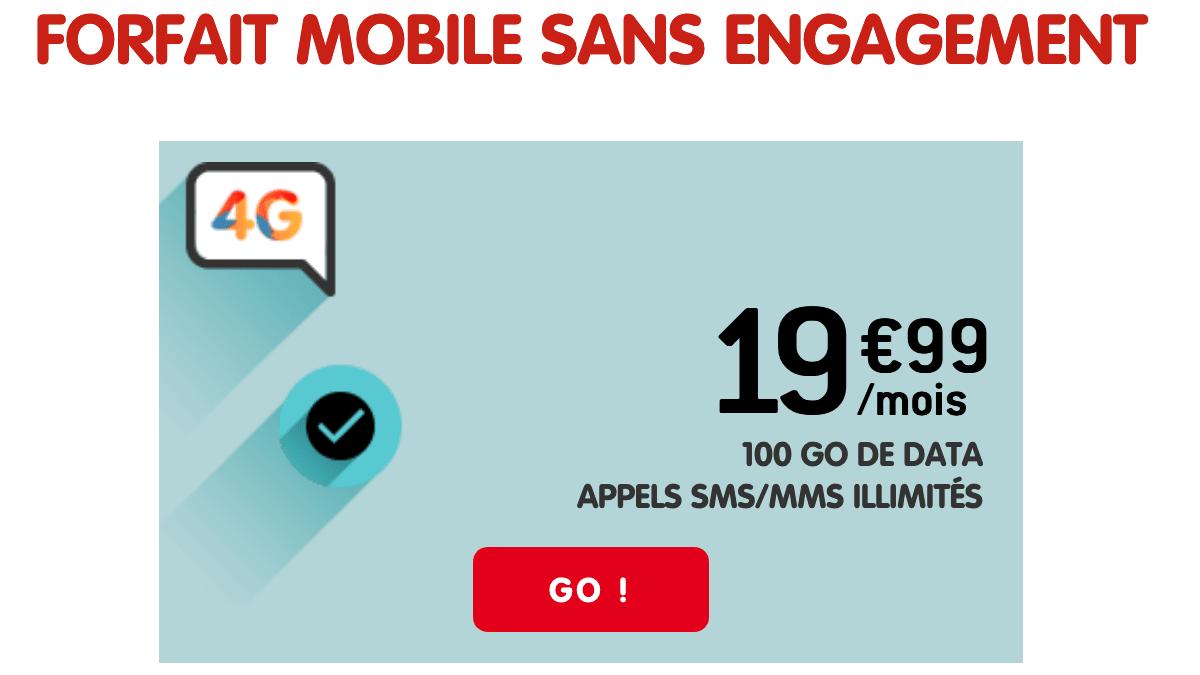 NRJ Mobile promo MVNO forfait 4G.