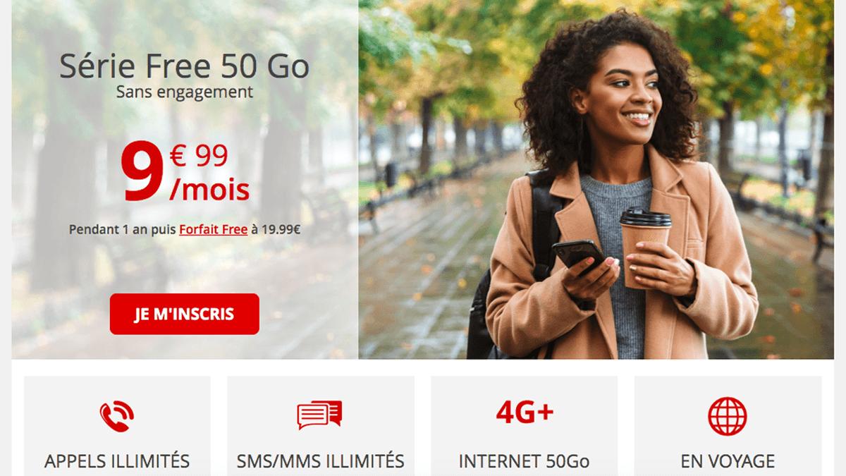 Forfait 4G Free à moins de 10€/mois