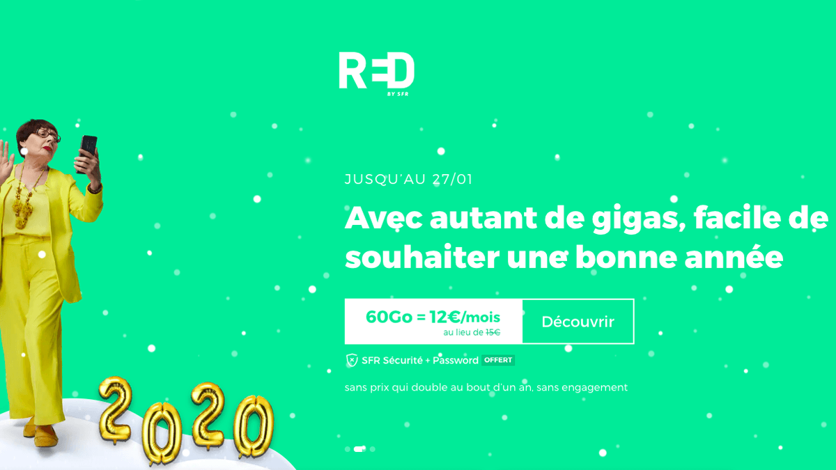 RED by SFR : forfait 4G en promotion.