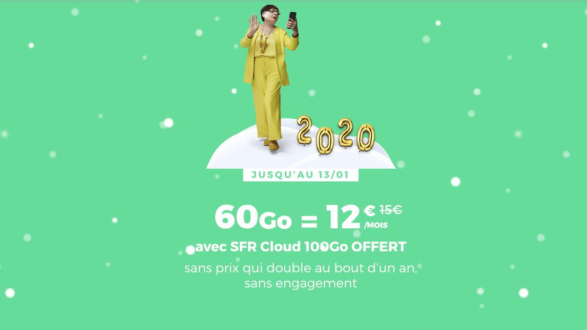Prolongation des promotions sur le forfait 60 Go de RED by SFR