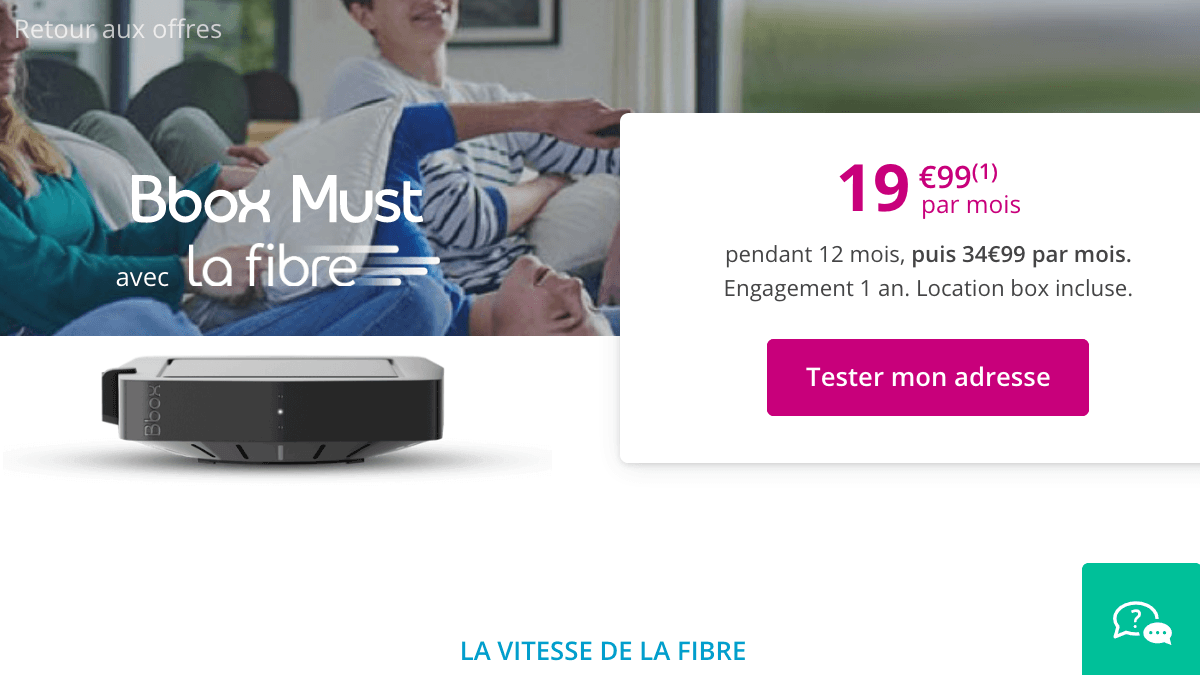 Box internet fibre optique en promo.
