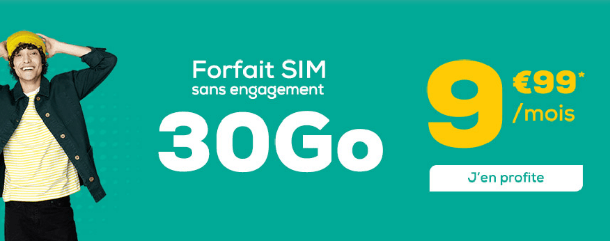 La Poste Mobile promo forfait mobile.