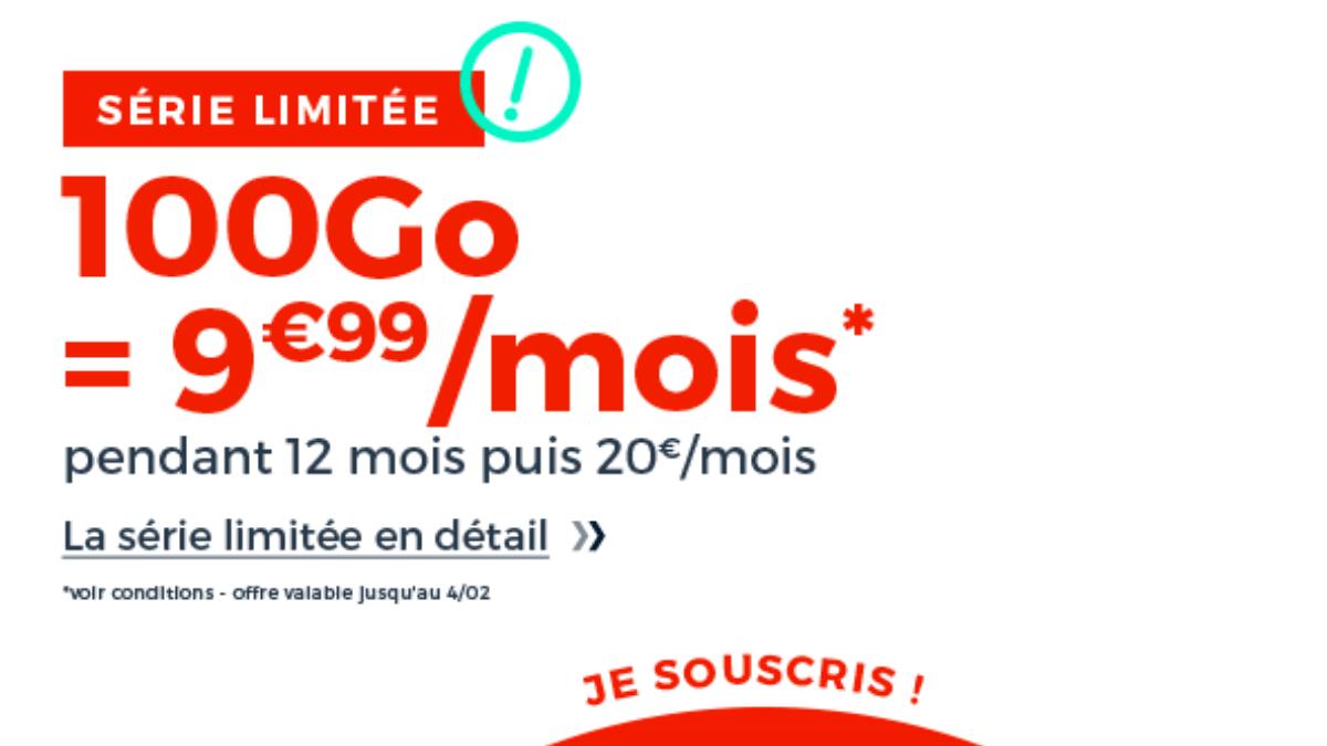 L'offre de Cdiscount Mobile pour un forfait 100 Go à prix réduit