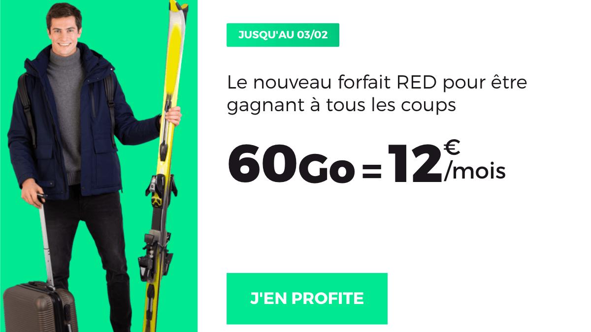 L'offre promotionelle de RED by SFR pour un forfait 60 Go à 12€/mois?