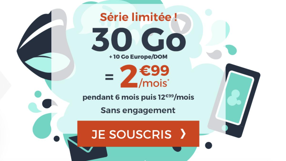 Le forfait 30 Go de Cdiscount en promotion à 2,99€/mois