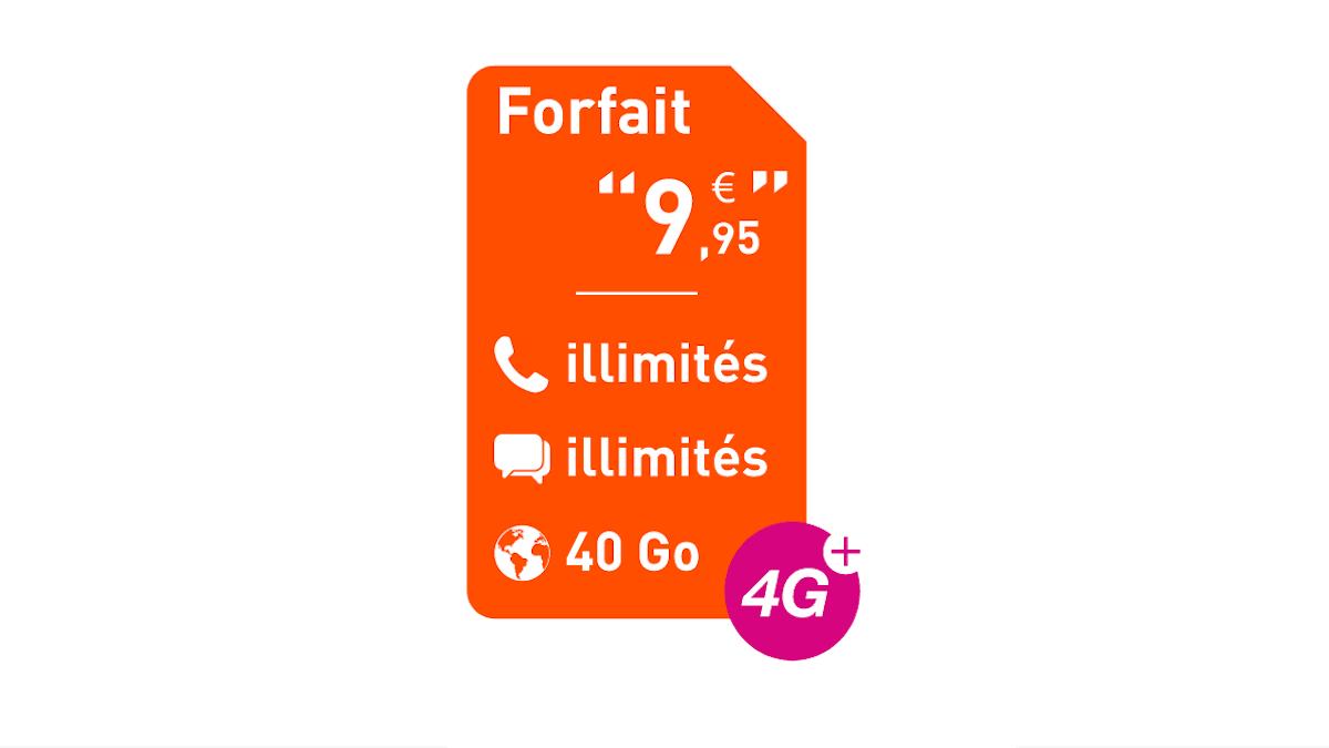 Le MVNO propose un forfait 40 Go à prix mini