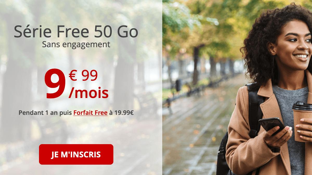 Série Free 50 Go : le forfait toujours disponible.