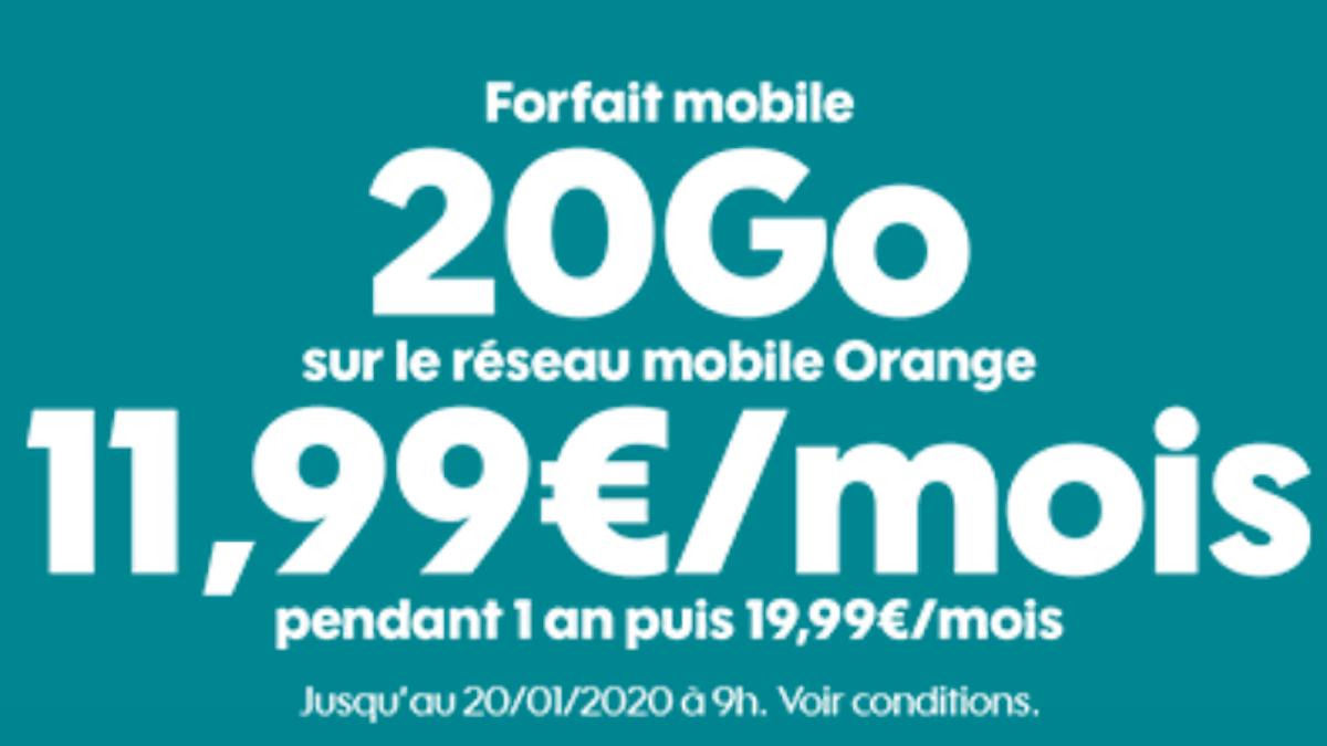 Sosh propose un forfait pas cher et international à seulement 11,99€/mois