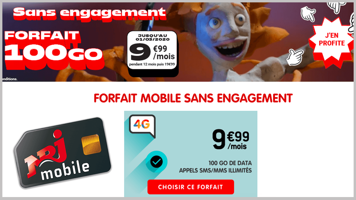 NRJ Mobile en promotion.