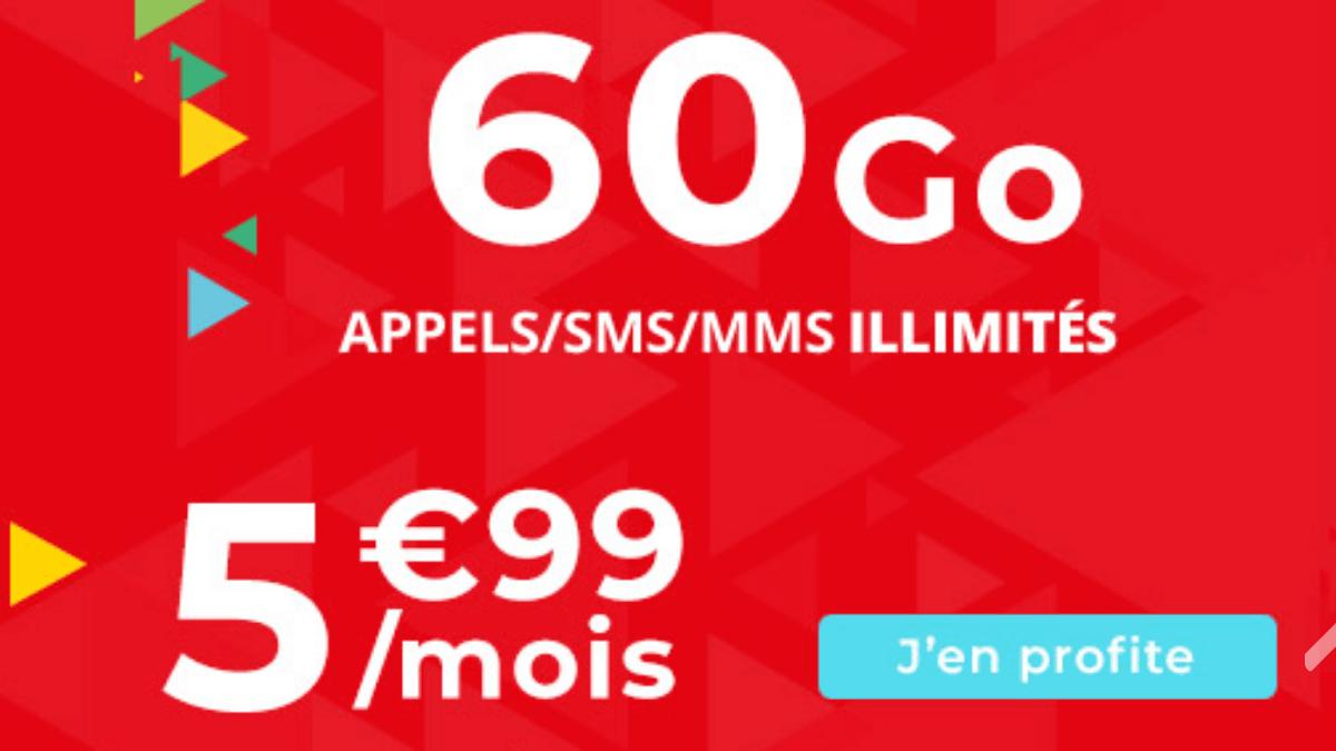 Un forfait 60 Go pas cher est en promo chez Auchan Telecom