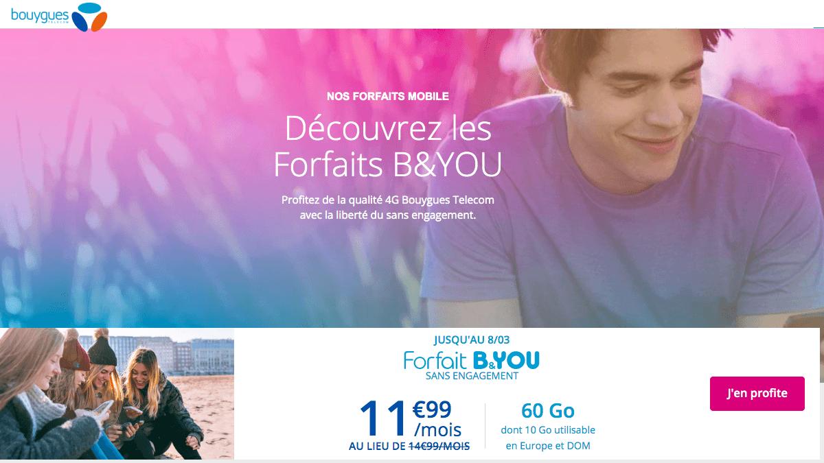 Un forfait B&You adapté aux iPhone et en promotion