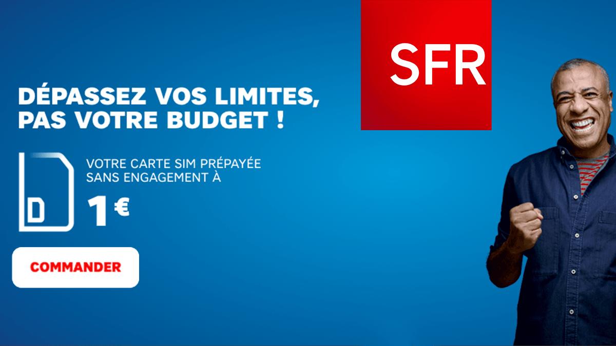Recharges SFR à partir de 5€.