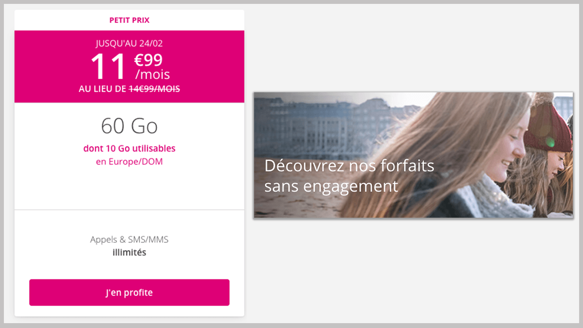 Forfait 60 Go B and You en promo.