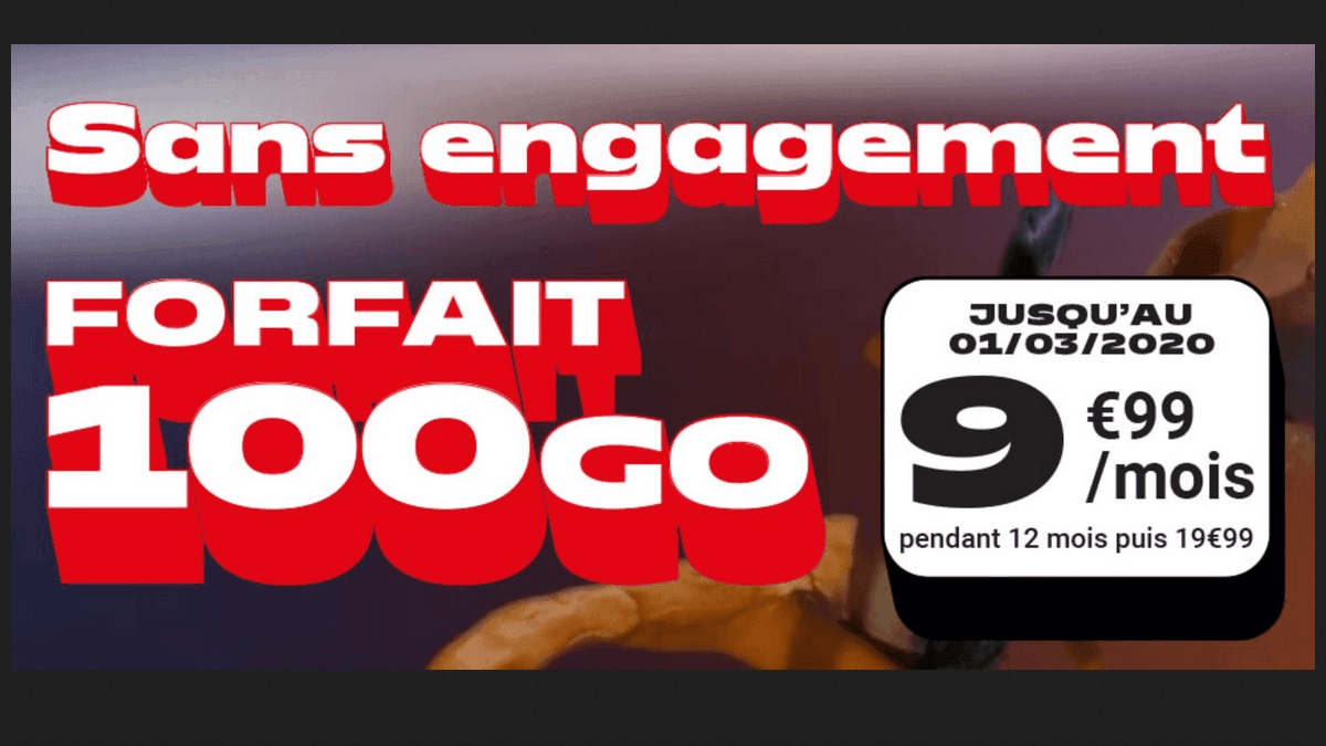 NRJ Mobile propose un forfait 100 Go en promo