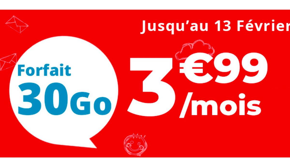 Un forfait pas cher selon Auchan, c'est 30 Go à 3,99€.