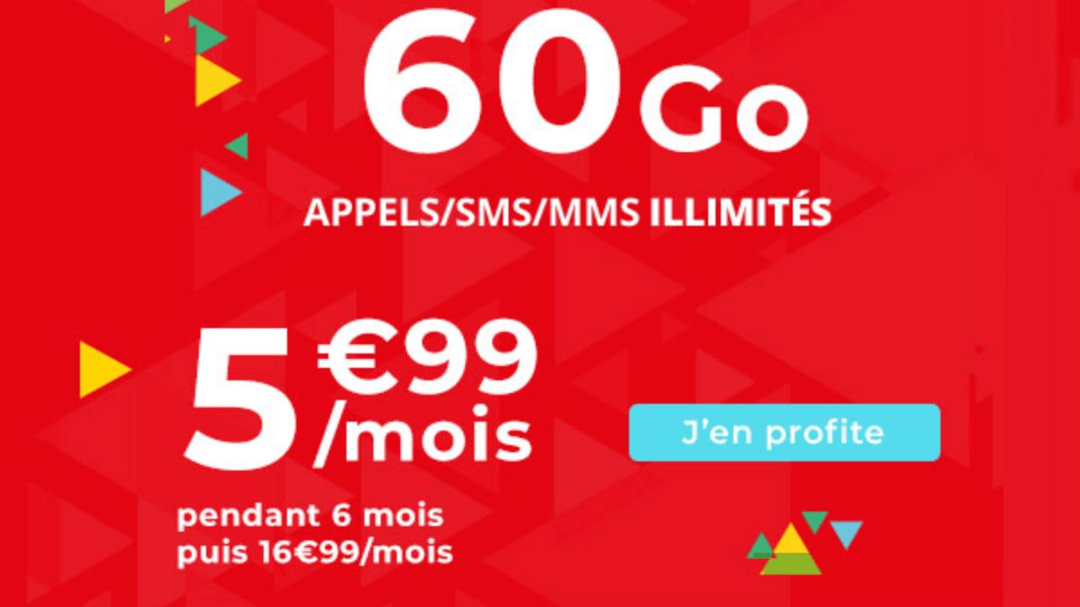 Le forfait 60 Go en promo d'Auchan Telecom