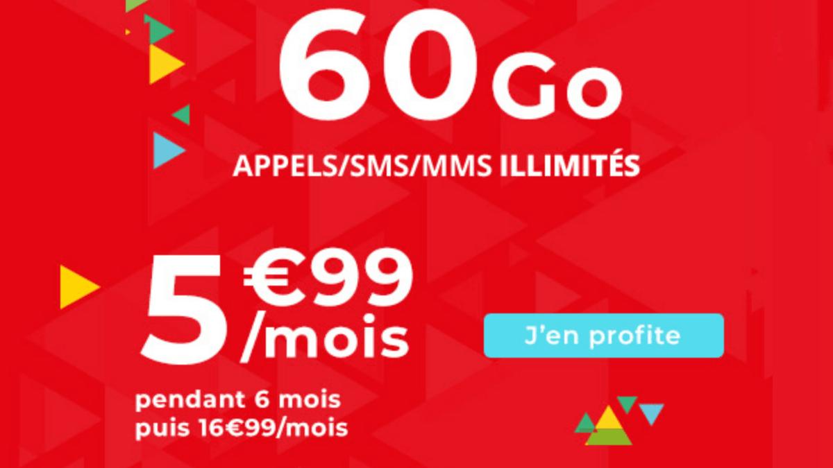 Auchan Telecom propose un forfait 60 Go pas cher en promo