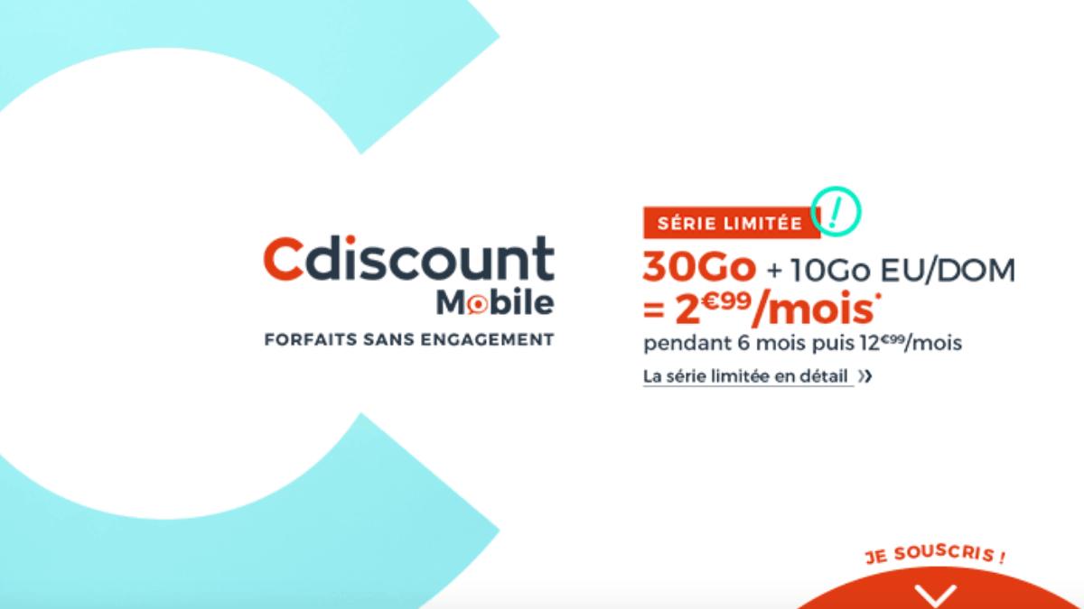 L'un des forfaits en promo de la semaine : le pas cher de Cdiscount Mobile