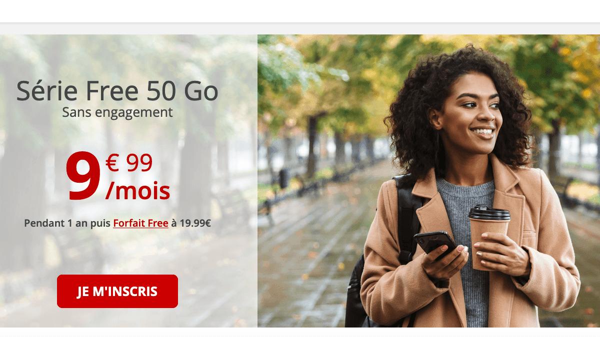Le forfait 50 Go de Free en promo