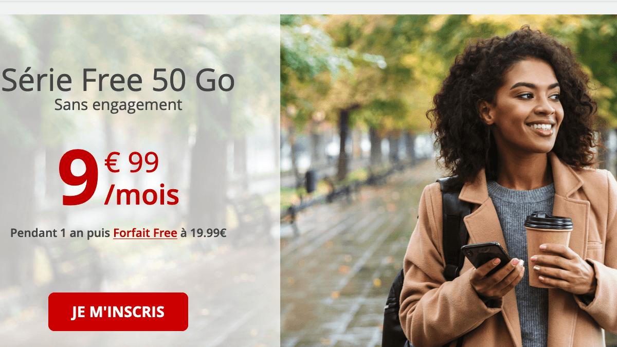 Free propose un forfait en promo à moins de 10€/mois