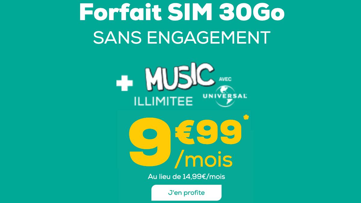 Le forfait en promo de La Poste Mobile est à moins de 10€/mois