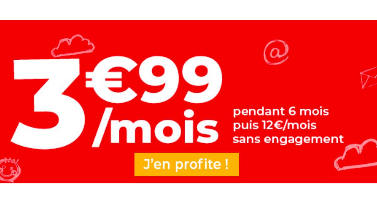 Forfait en promotion chez Auchan, 3,99€ pour 30 Go.